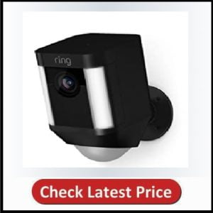 Ring Spotlight Cam Battery HD Security Camera with Built Two-Way Talk and a Siren Alarm