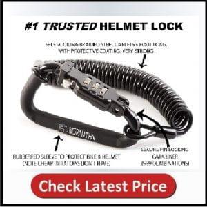 Motorcycle Helmet Lock