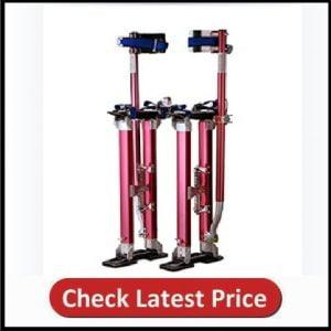 1118 Pentagon Tool Professional 18-30 Red Drywall - Painting - Work Stilts Aluminum