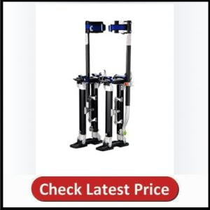 1120 Pentagon Tool Tall Guyz Professional 24-40 Black Drywall Stilts For Sheetrock Painting or Cleaning