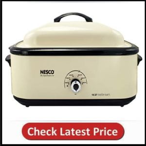 Nesco Classic Roaster Oven, Porcelain Cookwell, Ivory 1425 Watts of Power