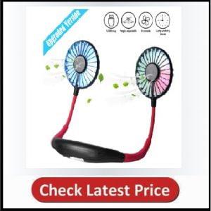 Upgraded Version Portable Neck Fan