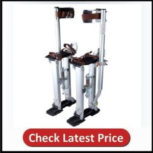 Yescom 24-40 Professional Grade Adjustable Drywall Stilts Taping Paint Stilt Aluminum Silver