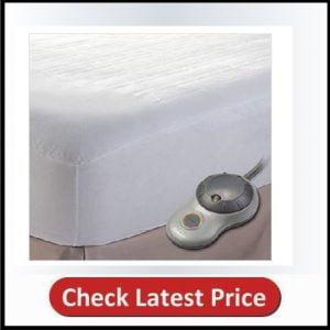 Sunbeam Non-Woven EasySet Thermofine Heated Mattress Pad