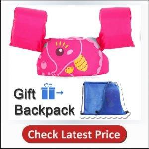TEWENE Kid Toddler Swim Vest Life Jacket Swim Float Vest Boating Vest with Adjustable Chest Strap