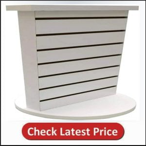 FixtureDisplays 2-Sided Slatwall Counter Spinner Maple Display Rack Great for Gift,