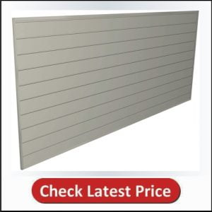 Proslat 88109 Heavy Duty PVC Slatwall Garage Organizer, 8-Feet by 4-Feet Section, Sandstone