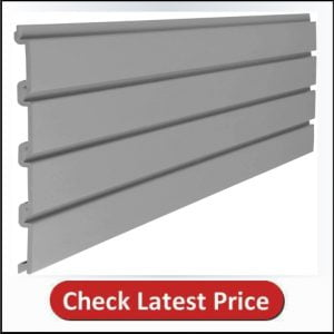 "Suncast 4"" Resin Slatwall Panel Sections - Gray"