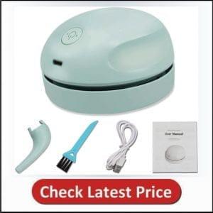 Desktop Vacuum Cleaner USB Charging with Vacuum Nozzle Cleaning Brush
