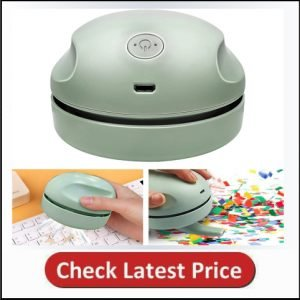 Desktop Vacuum Cleaner with Clean Brush Vacuum Nozzle, High Efficiency Detachable Mini Vacuum Cleaner